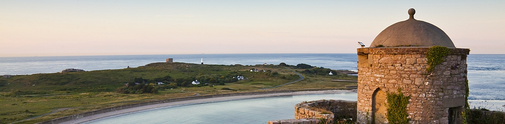 Longis Bay and the Pepper Pot